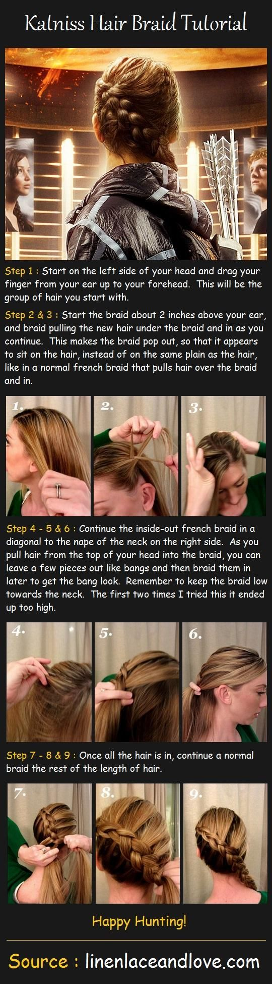 Beauty Tip: DIY Hair / katniss-hair-braid-tutorial - Fereckels Haha I do this on my daughter and didn't even realise it's a tribute to the hunger games!