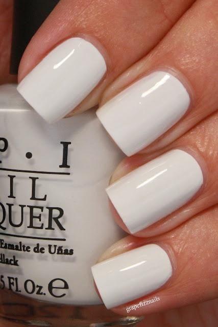 White - Classic bridal mani color