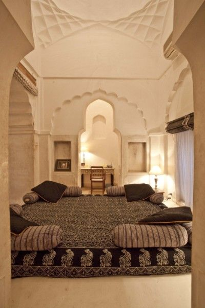 beautiful exotic bedroom with incredible architectural details chandra mahal - Architecture Bedroom Designs