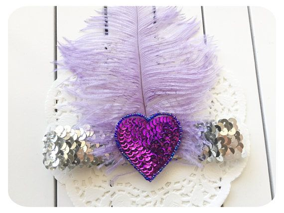 Violet Hearts Gatsby Vintage Feather Girls by AllureHandmade - Available in Our Etsy Store.