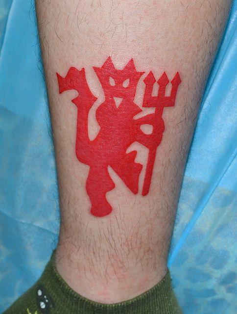 We really like this simple @manutd tattoo.