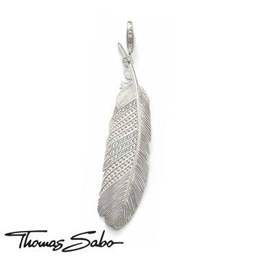 Thomas Sabo's beautiful #SterlingSilver Collection features a wide selection of #pendants with a beautifully delicate filigree #feather structure on both the front and back.