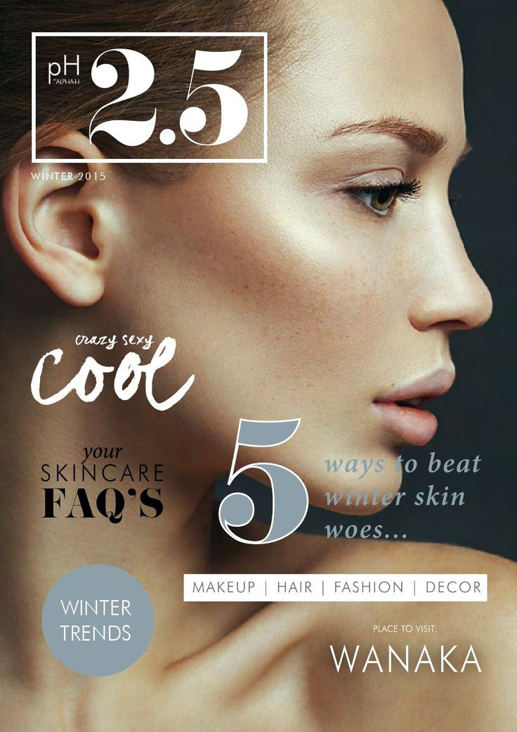 pH2 5 | Vol.4 | Winter15  A cool change has swept over those of us down under. Winter brings it's own skin concerns which need targeted treatments. In this edition we highlight these concerns, answer a few of your FAQ's and explore the latest winter trends in beauty, fashion and home. Enjoy! x
