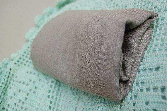 Natural pure grey flax linen towel linen wrap by LovelyCraftsHome