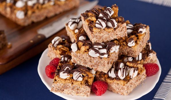 Toasted Marshmallow S'more Bars