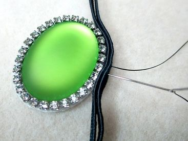 Using Cup Chain in Soutache