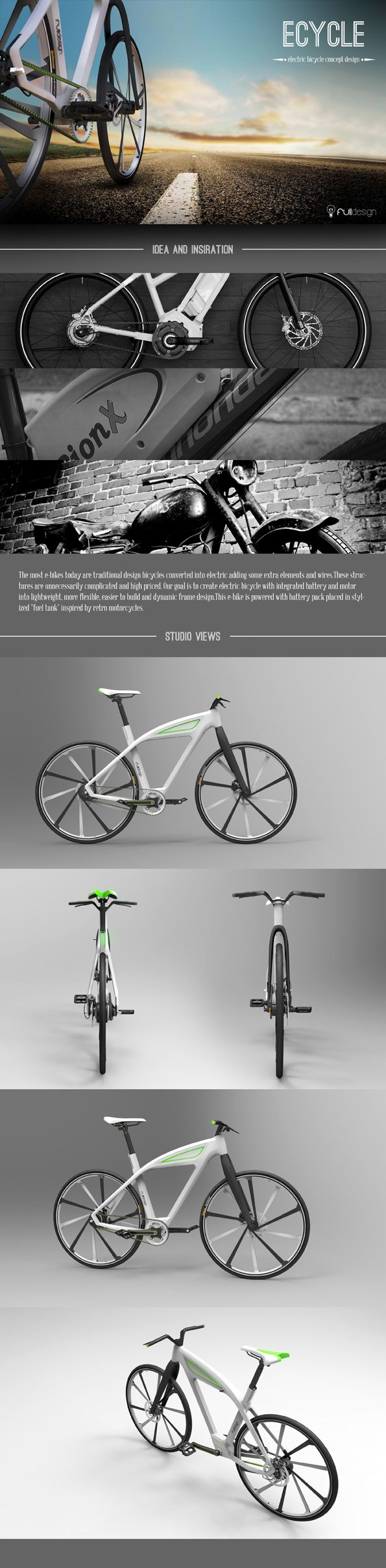 someone has to make this happen - eCycle-electric bicycle design concept by Milos Jovanovic, via Behance