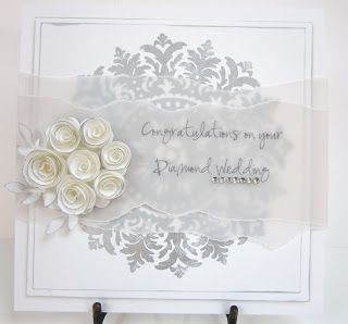 Stampin' Up UK Demonstrator Sarah-Jane Rae Cards and a Cuppa blog: Diamond Wedding Wishes