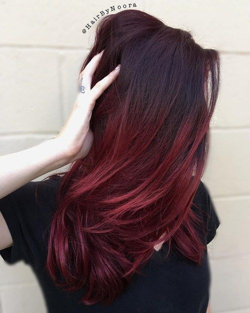 > the colour: red ombré