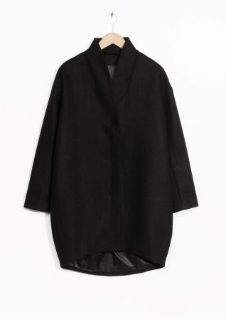 & Other Stories image 1 of Wool-Blend Coat in Black