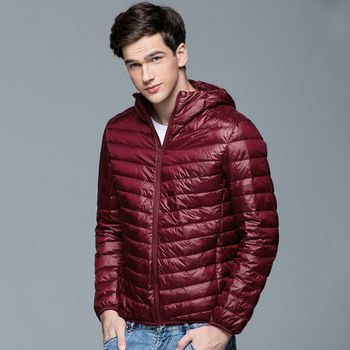 2016 Nieuwe Mannen Winter Jas Mode Capuchon 90% Witte Eend Donsjacks Plus Size Ultralight Down Jas Draagbare Slanke Down parka 4