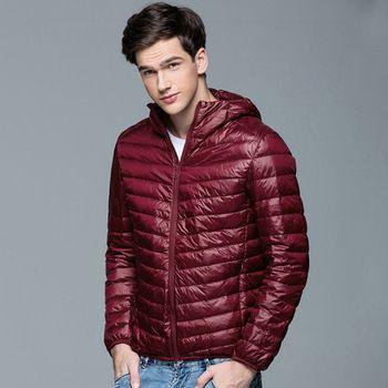 2016 Nieuwe Mannen Winter Jas Mode Capuchon 90% Witte Eend Donsjacks Plus Size Ultralight Down Jas Draagbare Slanke Down parka 4