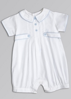 Remeber the little white outfit all you boys had for your church dedication? Handed down through 4 boys and you all looked so adorable in it!  Spring Shep Bubble--Bella Bliss