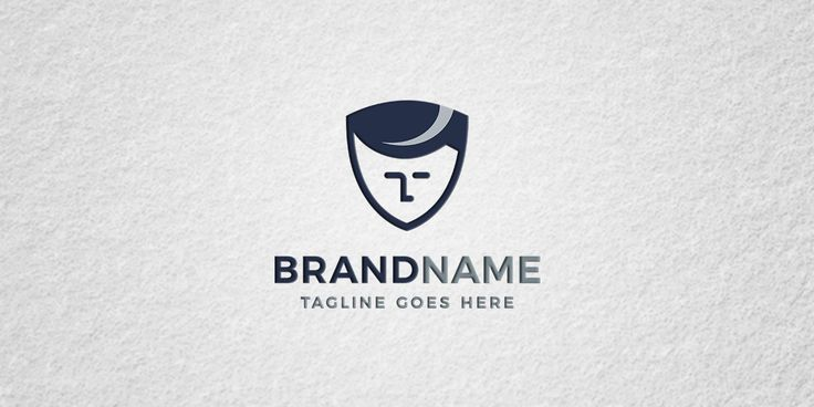shield man logo template for sale