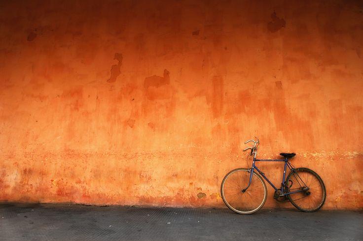 BikeWall Colors, Mario Moreno, Orange, Bicycles, Negative Spaces, Morocco Bikes, Photography, Bright Colors, Fashion Shoots