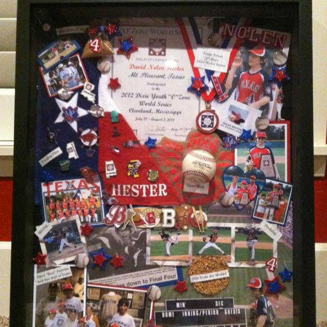 Baseball Shadow Box Dixie World Series Memories