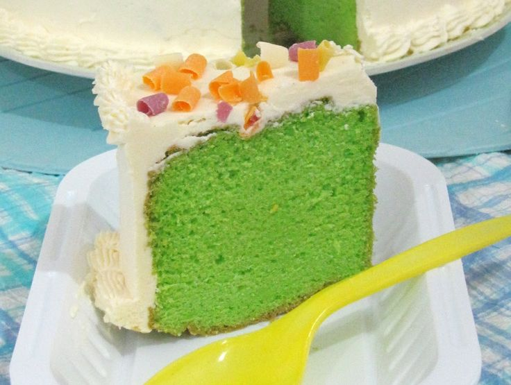 resep cara membuat sponge cake bolu pandan mudah