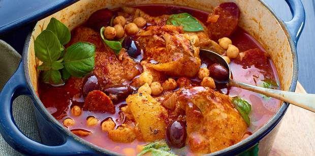 Mijoté de poulet à l'espagnoleMijoté de poulet à l'espagnole