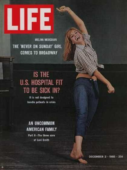 Melina Mercouri - Life Magazine [United States] (2 December 1966)