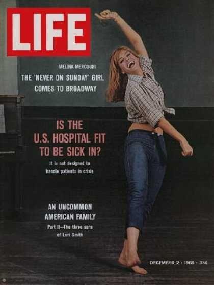 Melina Mercouri - Life Magazine [United States] (2 December 1966)