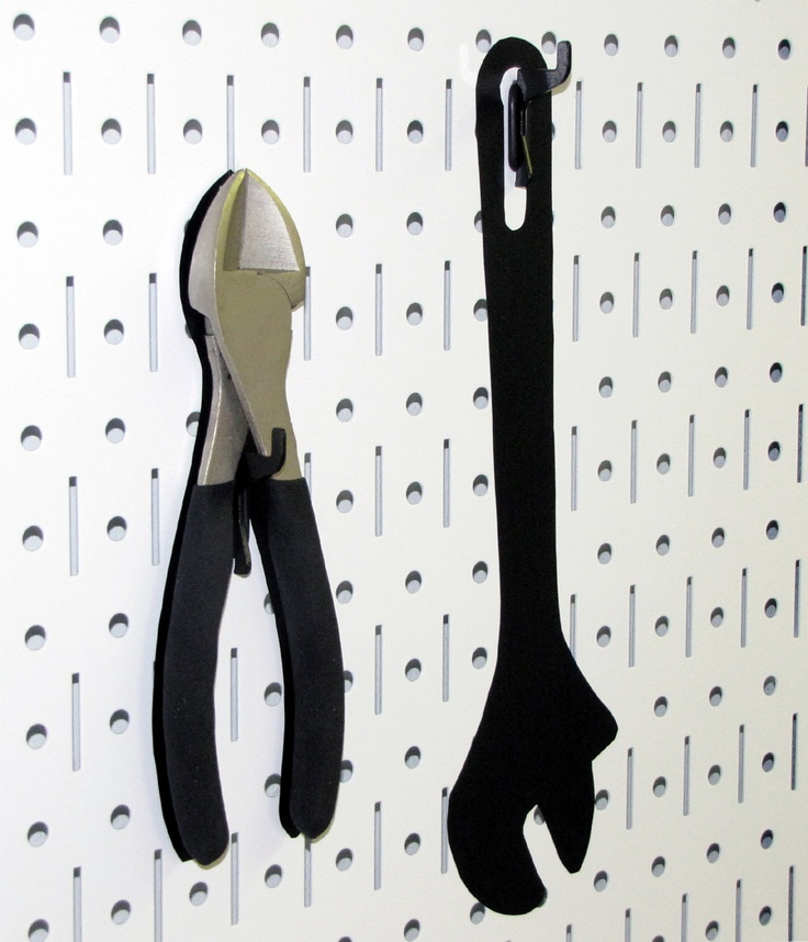 Wall Control Metal Pegboard Makes Great Shadow Board For: Wall Control White Metal Pegboard Tool Board With Black