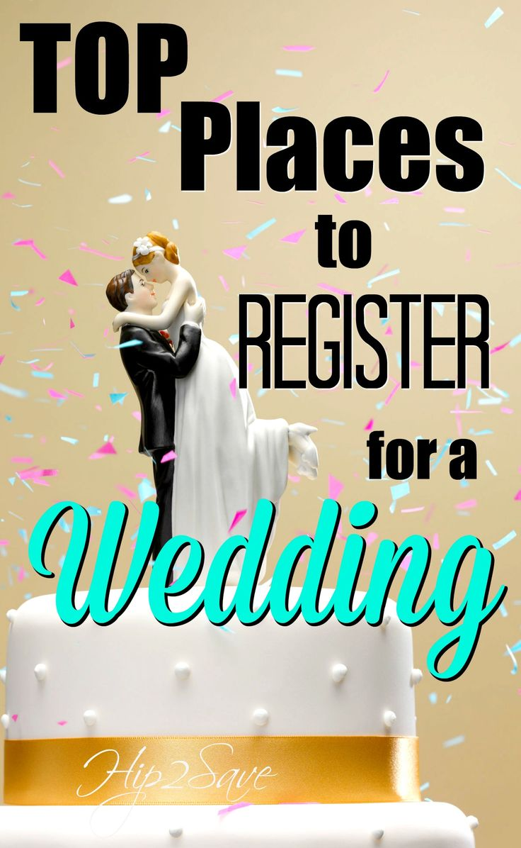 Top places to register for a wedding weddings wedding for Popular wedding registry locations