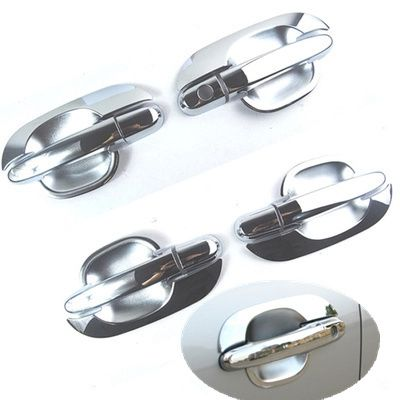 For Kia Sportage 2005 2006 2007 2008 2009 2010 Set Chrome Car Door Handle Cover + Cup Bowl Cover Accessories