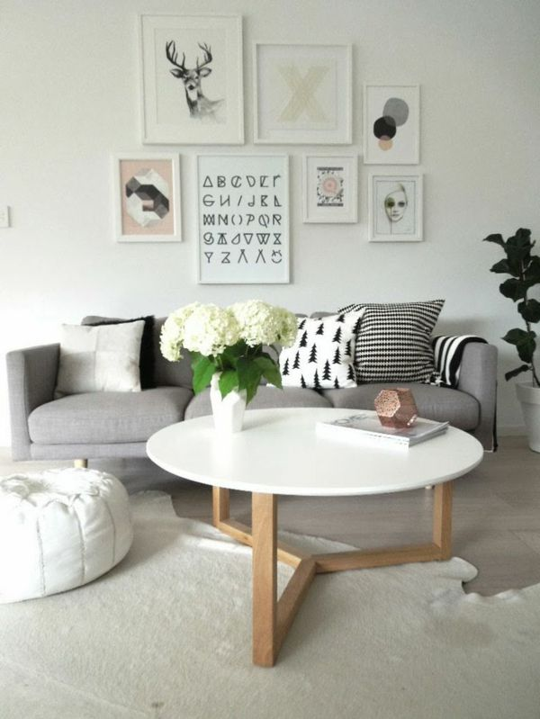 wohnzimmer couchtisch rund wohnzimmer wandgestaltung