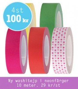 Make & Create - Neonfärgad washitejp