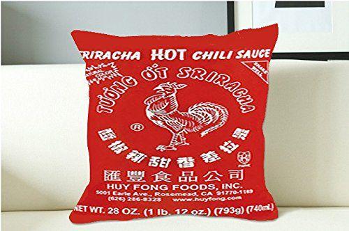 Sriracha Hot Sauce Pillow Case (16x16 one side) Cover http://www.amazon.com/dp/B016ZEJZR8/ref=cm_sw_r_pi_dp_N-Howb1DJWK79