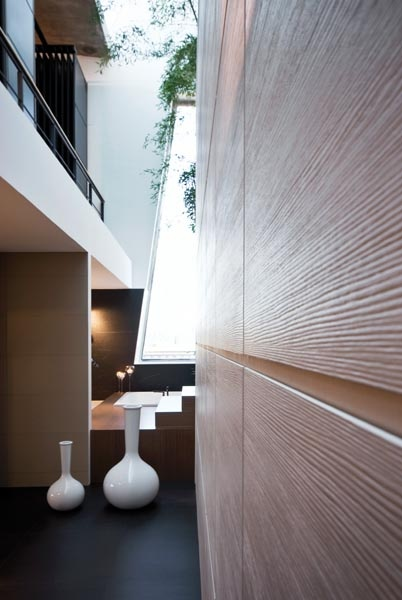 Slim profile tiles with subtle texture by Inalco