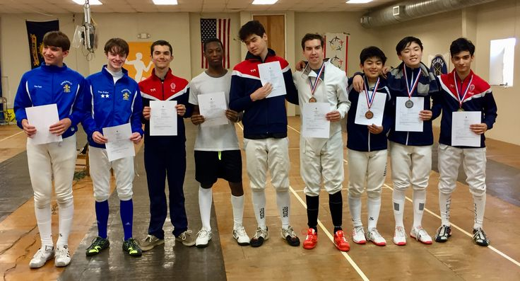 "Congratulations to DFC fencers Drew W on finishing 8th and Sam J on finishing 9th (earning his ""E"" rating) in the junior mens épée event in the GA Division Junior Olympic Qualifiers. Both qualified for JOs in junior and cadets. Very well fenced"