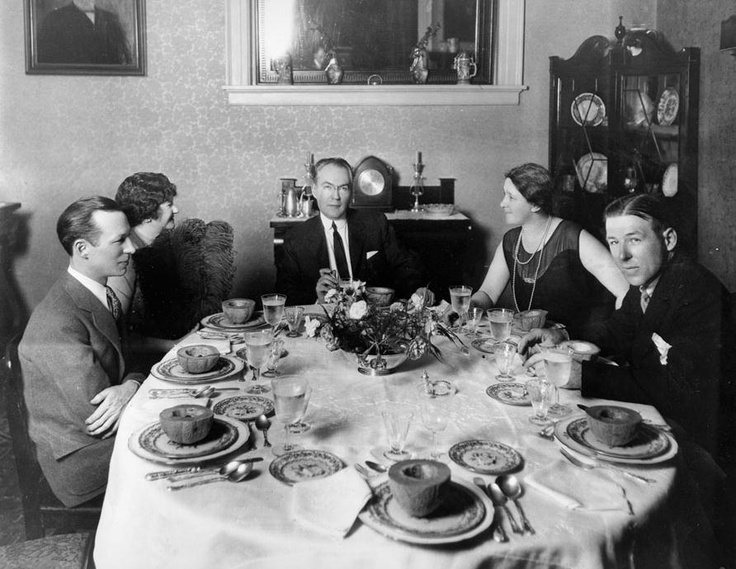 The only known photograph of Ellen Glasgow and James Branch Cabell together was taken at the Cabell home on June 1, 1928 by Richmond's Dementi Studio for the Richmond News Leader. From left to right are Burton Rascoe, a literary critic from Chicago, Ellen Glasgow, James Branch Cabell, Priscilla Bradley Shepherd Cabell (Cabell's first wife), and Elliott White Springs, a short story writer.