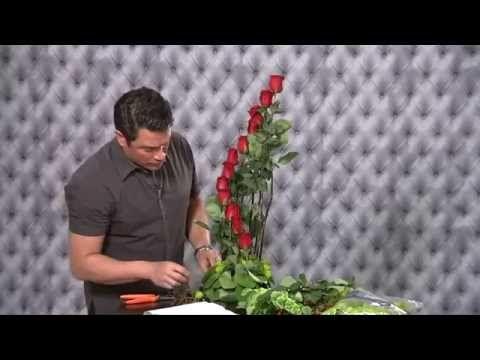 Como Hacer Arreglos Florales FÁCIL VIDEO - YouTube