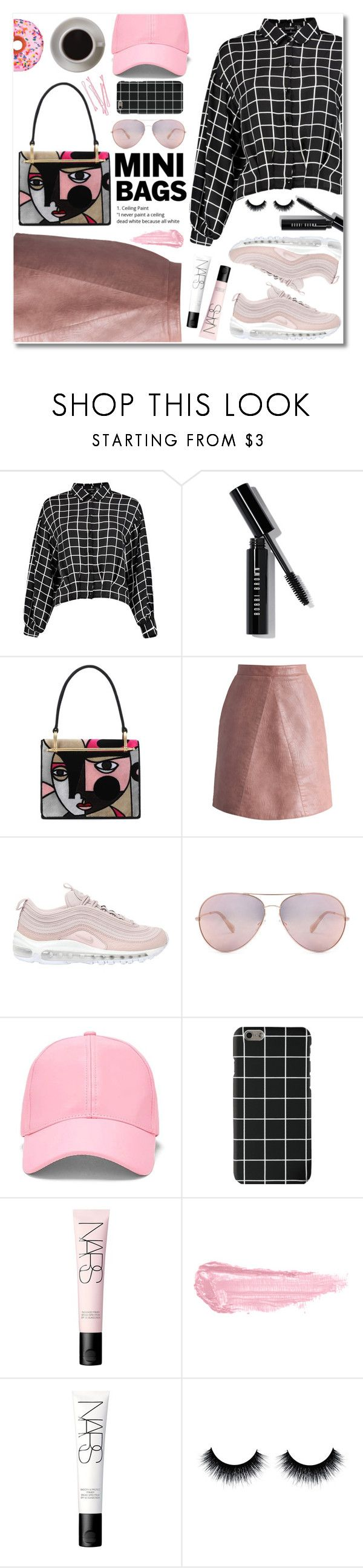 """""""pink picasso"""" by janajane90 ❤ liked on Polyvore featuring Bobbi Brown Cosmetics, Prada, Chicwish, NIKE, Forever 21, BOBBY, NARS Cosmetics, By Terry, Bunn and Iscream"""