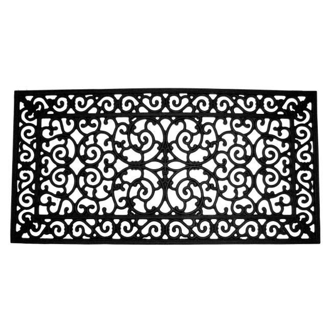 rubber door mat scroll design wall art frame mats lowes