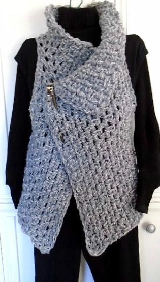 (4) Name: 'Crocheting : 884, CROCHET Wrap Vest, Easy Beginner