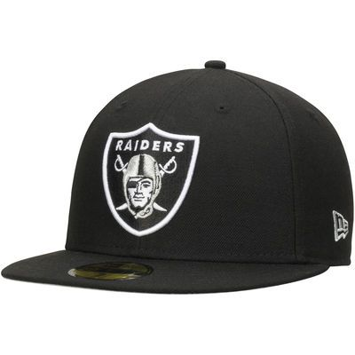 Oakland Raiders New Era Omaha 59FIFTY Fitted Hat - Black