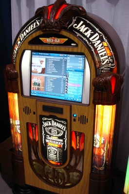 For our bar room- An old jukebox would be fantastic for my dining room/bar area