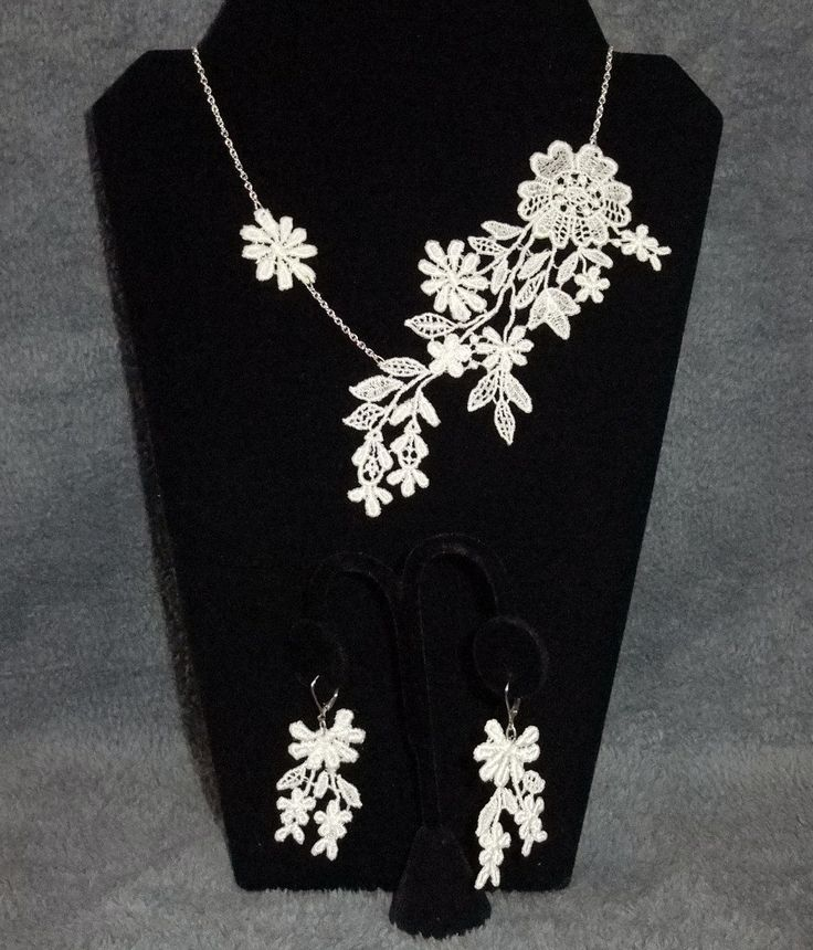 Made from old wedding dress lace