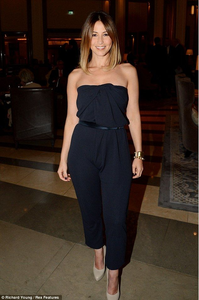 Rare night out: Rachel Stevens seems to be enjoying her night off of mum duties at the Corinthia Hotel