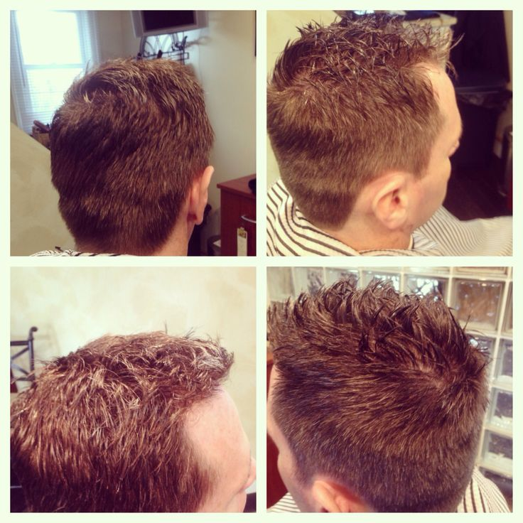 men's haircut clean tapered hairline