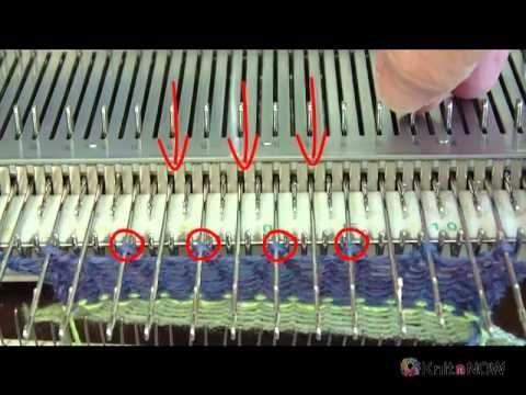 Оформление низа изделия на машине.пико Взято с http://www.knititnow.com