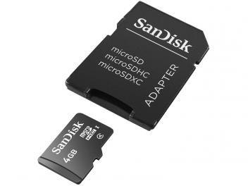 Cartão de Memória Micro SD 4GB com Adaptador - SanDisk