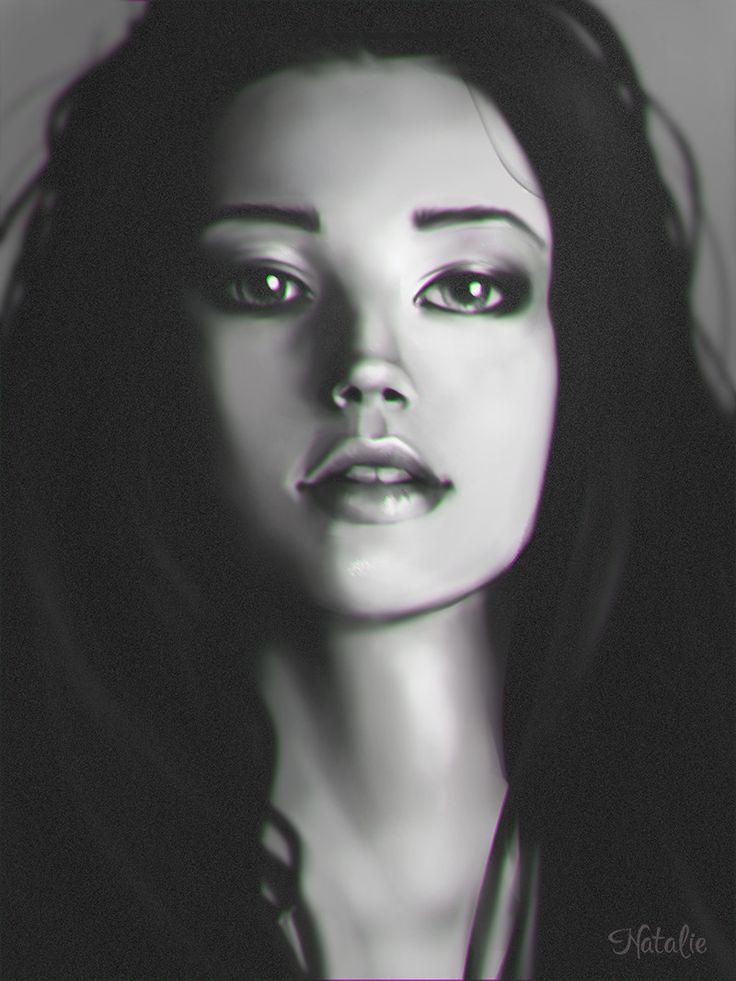 Portrait study, Natalie Stratulat on ArtStation at https://www.artstation.com/artwork/LZrZw