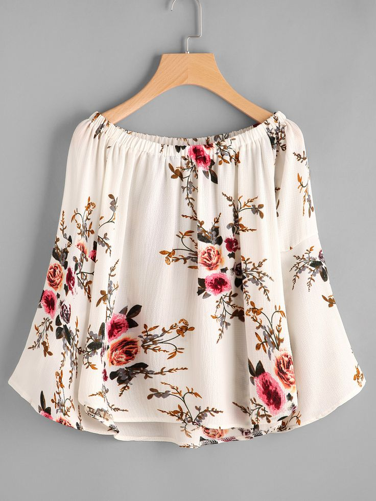 Shop Boat Neckline Floral Print Dip Hem Top online. SheIn offers Boat Neckline Floral Print Dip Hem Top & more to fit your fashionable needs.