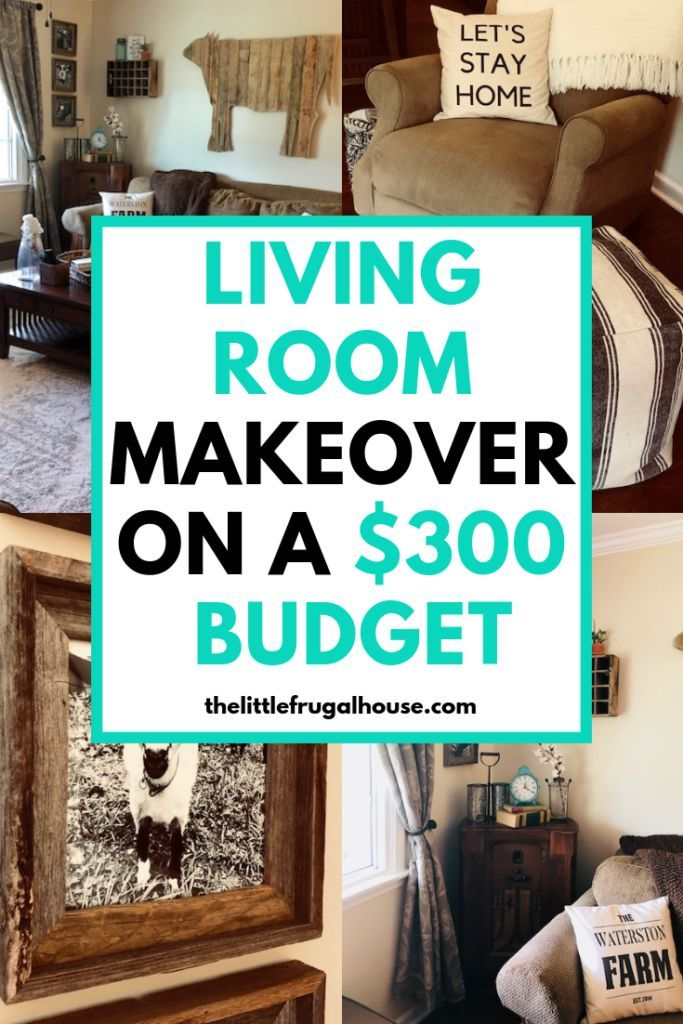 Living Room Makeover On A Budget The Little Frugal House