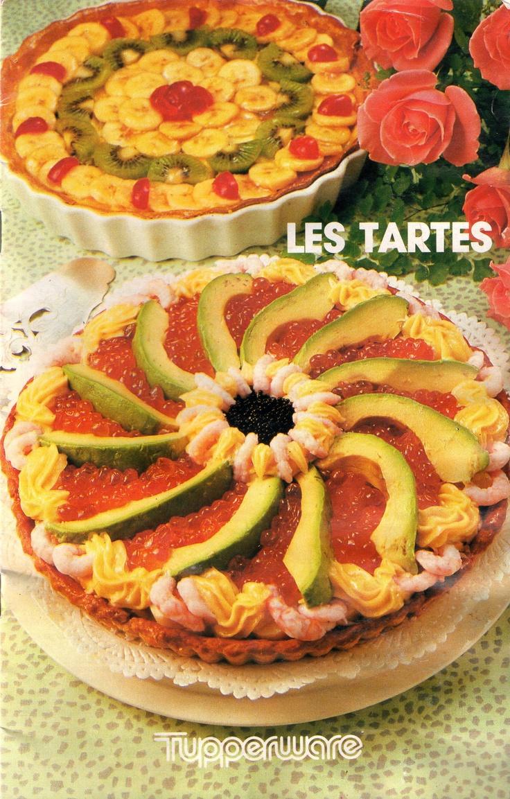 Les tartes (1989) : Pâte feuilletée - Tarte à la tomate - Flan au bleu d'Auvergne - Pâte pichet - Timbale milanaise - Pâte Francine aux 3 Suisses - Tarte à la saucisse - Pâte minute - Pie au fruits de mer - Tourte forestière - Pie de saumon à l'oseille - Tarte des grands jours de Mamy - Tourte aux pruneaux - Tarte aux cerises - Tarte des îles - Clafoutis amandin - Flan aux fruits - Tarte aux kiwis - Pâte sablée courante - Tourte aux fruits confits - Tarte au chocolat