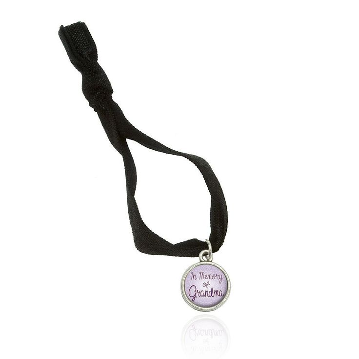 In Memory of Grandma Bracelet Double Fold Over Stretchy Elastic No Crease Hair Tie with Charm *** Visit the image link more details.