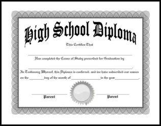 Free Homeschool Diplomas Templates And 3 Ways Your Homeschool High